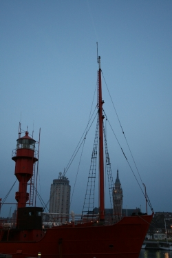 Latarniowiec Sandettie w Dunkierce foto: Kasia Kowalska