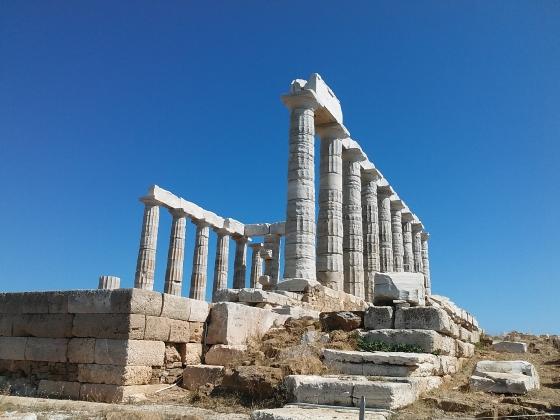 Świątynia Posejdona na przylądku Sunion (Grecja 2018)