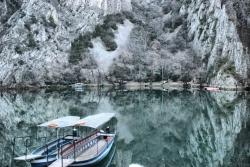 Zima w Kanionie Matka, stalowo, szaro i zimno   Charter.pl foto: Jola Szczepańska