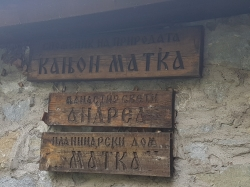 Majówka 2019, nie mogliśmy ominąć Kanionu Matka w drodze na rejs   Charter.pl foto: załoga s/y George