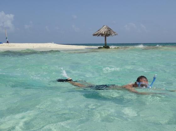 Karaibska perełka z trzcinowym parasolem (Karaiby, Wyspa Mopion  2017)