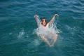 Ania w wodzie  foto: Jola i Piotr