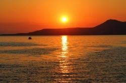 I zachód słońca jak co wieczór  na Śródziemnym