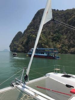 """Rejsy w Tajlandii - charter.pl foto: załoga s/y """"White Lotus"""""""