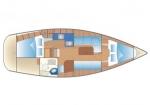 Przykładowy schemat Bavaria 34 Cruiser