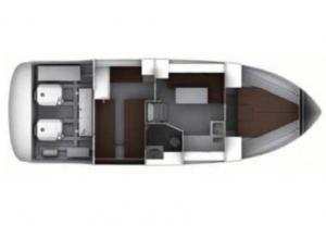 Schemat jachtu motorowego Bavaria S35 OPEN | Charter.pl foto: www.yacht-charter-center.de