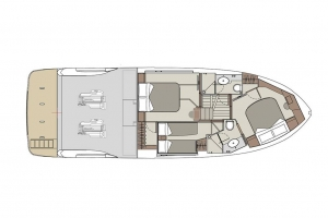 Schemat jachtu Absolute 47 Fly | Charter.pl foto: www.yachting2000.at