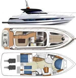 Schemat jachtu Focus Power 44 | Charter.pl foto: www.beta-charter.com