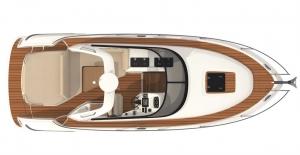 Schemat pokładu jachtu Bavaria S29 OPEN | Charter.pl