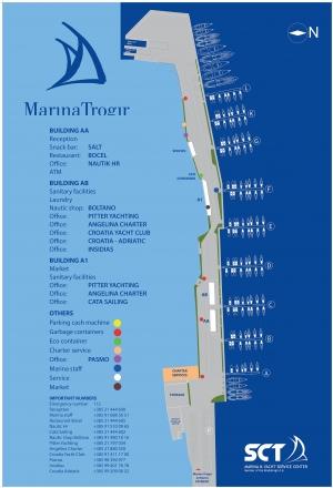 Mapa Marina SCT Trogir  foto: https://sct.hr