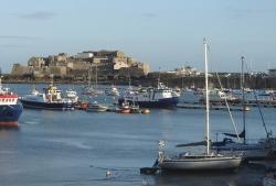 Port St. Peter jest portem pływowym, przypływy, odpływy i tak w kółko foto: Katarzyna Kowalska