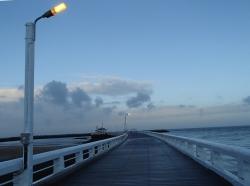 Falochron, miejsce spacerów mieszkańców Ostendy foto: Kasia Koj