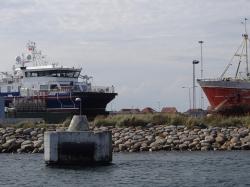 Wejście do portu Skagen foto: Kasia Koj
