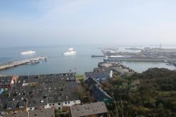 Widok na port w Helgolandzie foto: Katarzyna Kowalska