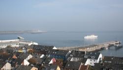 Widok na port Helgoland foto: Kasia Koj