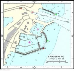 Plan portu Spodsbjerg foto: en.spodsbjerghavn.dk