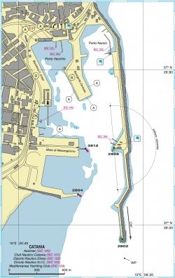 Plan portu Katania foto: www.pagineazzurre.com