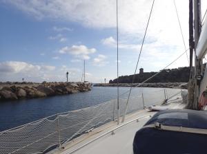 Wejście do Marina di Capraia Isola foto: Kasia Koj