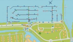 Plan mariny Lelystad   Charter.pl foto: https://lelystadhaven.nl/