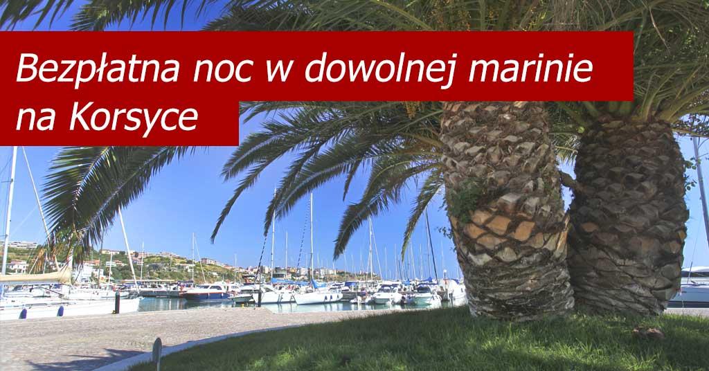 Kiriacoulis - jedna bezpłatna noc w dowolnej marinie na Korsyce
