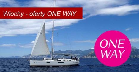Czartery ONE WAY  po włoskich wyspach