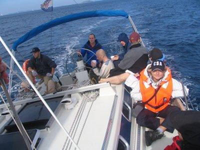 Dzielna załoga jachtu Danica foto: Wojtek