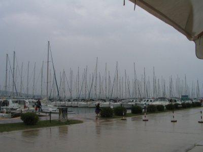 Sukosan w deszczu foto: Wojtek