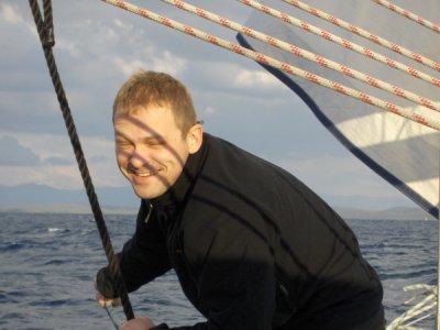 Andrzejek na pokładzie foto: Kasia