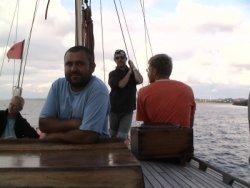 Kapitan i jego czujne oko foto: Krzyś