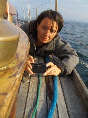 Beatka robi zdjęcie nowemu pasażerowi foto: Kasia
