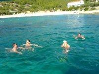 Kąpiel załogi Adriatica w Adratyku foto: Sławek