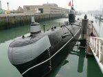 rosyjska łódź podwodna w Zeebruge  foto: Kasia