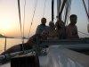 Romantyczny zachód słońca na Milos