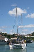 pierwszy jacht wypływa   foto: Kasia