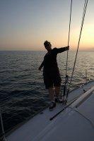 zachód słońca w morzu  foto: Kamila Kłos