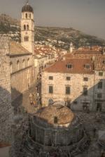 Dubrovnik - klasztor franciszkanów, fontanna św. Onufrego foto: Jola Szczepańska
