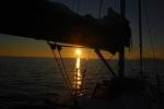 Zachód słońca przed Hvarem foto: Jola Szczepańska