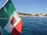 """Obieramy kierunek Isola del Giglio, płyniemy podziwiać dzieło włoskiego kapitana zatopiony prom """"Costia Concordia"""" foto: Kasia"""
