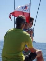Udało się i bandera dumnie powiewała przez cały rejs foto: Kasia