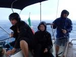 Dla nas w porcie miejsca zabrakło i po nocce na kotwicy płyniemy dalej do portu Solenzara. Pogoda przestała nam sprzyjać :(  foto: Kasia