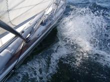 Jeszcze będzie nie jedno zdjęcie naszego jachtu foto: Kasia Koj