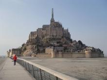 Jeszcze przed zaokrętowaniem zajrzeliśmy do Mont-Saint-Michel  foto: Kasia Koj