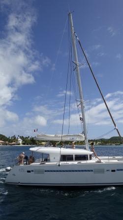 Jeszcze jedna fotka jachtu Waldka foto: Ela