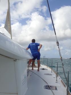 Wracamy na Gwadelupę, ale teraz z drugiej strony, wchodzimy do mariny w Basse Terre foto: Kasia