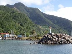 Wracamy na Gwadelupę, ale teraz z drugiej strony, wchodzimy do mariny w Basse Terre,foto: Kasia