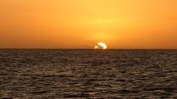 Zachód słońca na Morzu Karaibskim, niezapomniany widok,foto: Ela