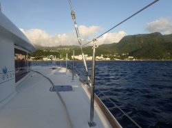 Już widać St. Kitts,foto: Kasia