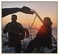 Zachód słońca na morzu foto: Peter